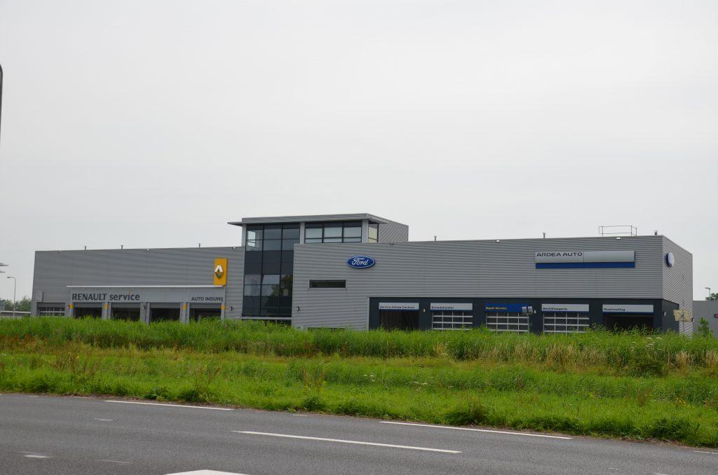 Nieuwbouw Servicecentrum Indumij ford renault Zwijndrecht